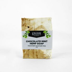 Chocolate Mint Hemp Soap - 4 ounce bar