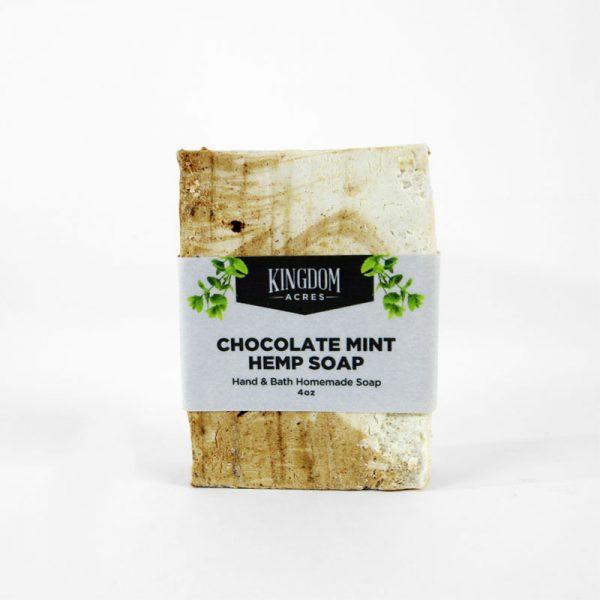 Chocolate Mint Hemp Soap - 4 ounce bar