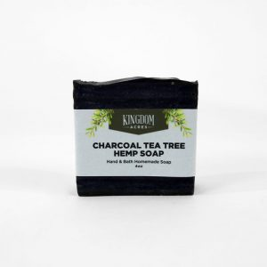 Charcoal/Tea Tree Hemp Soap - 4 ounce bar
