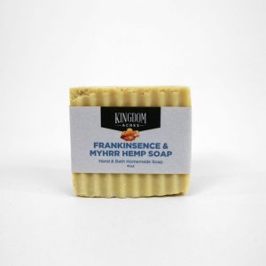 Frankinsence and Myhrr Hemp Soap - 4 ounce bar