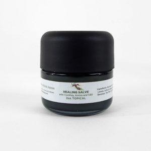 Healing Salve with Comfrey, Arnica and CBD - 2 ounce glass jar